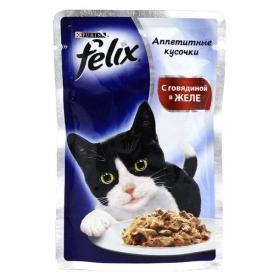 Felix Аппетитные кусочки в желе с Говядиной